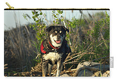 Carry-all Pouch featuring the photograph Kayaker's Best Friend by James Peterson