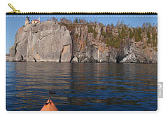 Carry-all Pouch featuring the photograph Kayaking Beneath The Light by James Peterson