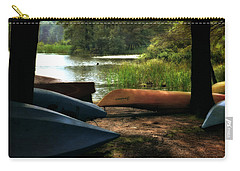 Kayaks On The Shore Carry-all Pouch