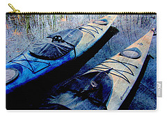 Kayaks Resting W Metal Carry-all Pouch