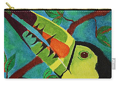 Carry-all Pouch featuring the painting Keel-billed Toucan by Amy Gallagher