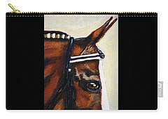 Carry-all Pouch featuring the painting Keen by Angela Davies