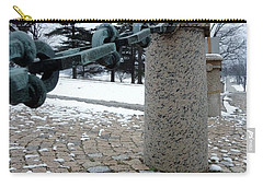 Carry-all Pouch featuring the photograph Keep Out by Michael Porchik