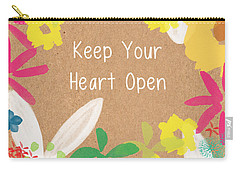 Keep Your Heart Open Carry-all Pouch by Linda Woods