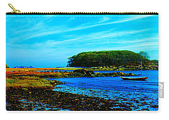 Carry-all Pouch featuring the photograph Kennepunkport Vaughn Island  by Tom Jelen