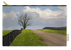 Kentucky Horse Farm Road Carry-all Pouch