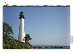 Carry-all Pouch featuring the photograph Key Biscayne Lighthouse by Christiane Schulze Art And Photography
