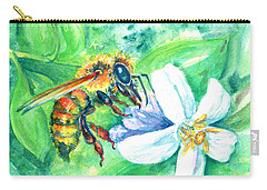 Key Lime Honeybee Carry-all Pouch