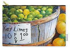 Carry-all Pouch featuring the painting Key Limes Ten For A Dollar by Roger Rockefeller