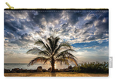 Key West Florida Lone Palm Tree  Carry-all Pouch