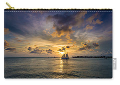 Key West Florida Sunset Mallory Square Carry-all Pouch