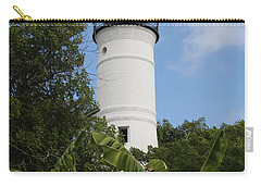 Carry-all Pouch featuring the photograph Key West Lighthouse  by Christiane Schulze Art And Photography