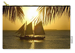 Key West Sunset Carry-all Pouch by Joan  Minchak