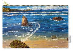 Carry-all Pouch featuring the painting Kiama Beach by Pamela  Meredith