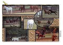 Horses Kickin It  Carry-all Pouch by Bobbee Rickard