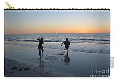 Carry-all Pouch featuring the photograph Kids At The Beach by Robert Meanor
