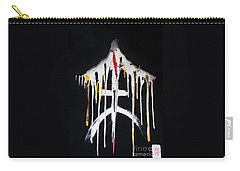 Carry-all Pouch featuring the painting Kiiroi Ame No Fuyu by Roberto Prusso