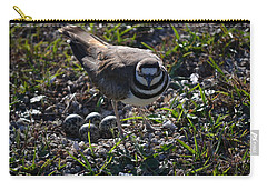 Killdeer Guarding Her Eggs Carry-all Pouch