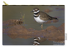 Carry-all Pouch featuring the photograph Killdeer Reflection by Bryan Keil