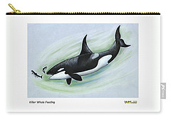 Killer Whale Feeding Carry-all Pouch