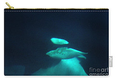 Carry-all Pouch featuring the photograph Killer Whales Orcas Under Water  Off The San Juan Islands 1986 by California Views Mr Pat Hathaway Archives
