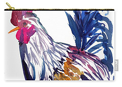 Carry-all Pouch featuring the painting Kilohana Rooster by Marionette Taboniar