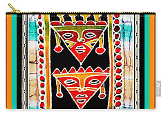 Carry-all Pouch featuring the digital art King And Queen by Vagabond Folk Art - Virginia Vivier