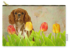 King Charles Cavalier Spaniel Carry-all Pouch by Liane Wright