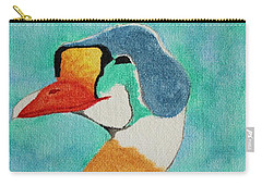 Carry-all Pouch featuring the painting King Eider by Amy Gallagher