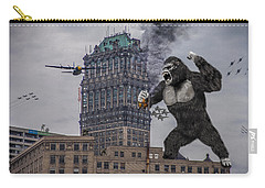 Carry-all Pouch featuring the photograph King Kong In Detroit At Wurlitzer by Nicholas  Grunas