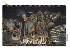Carry-all Pouch featuring the photograph King Kong In Detroit Westin Hotel by Nicholas  Grunas