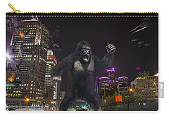 Carry-all Pouch featuring the photograph King Kong On Jefferson St In Detroit by Nicholas  Grunas