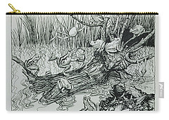 King Log, Illustration From Aesops Fables, Published By Heinemann, 1912 Engraving Carry-all Pouch by Arthur Rackham