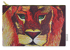 Lion In Orange Carry-all Pouch