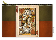 King Of Hearts In Wood Carry-all Pouch
