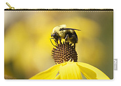 King Of The Coneflower Carry-all Pouch by Penny Meyers