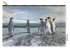 King Penguin In The Surf Carry-all Pouch by Yva Momatiuk John Eastcott