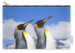 King Penguin Duo Carry-all Pouch by Yva Momatiuk John Eastcott