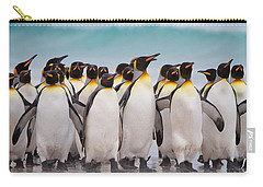 King Penguins Carry-all Pouch by David Beebe