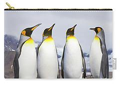 King Penguins St Andrews Bay Carry-all Pouch by Yva Momatiuk John Eastcott