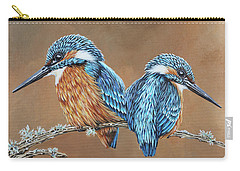 Carry-all Pouch featuring the painting Kingfishers by Jane Girardot