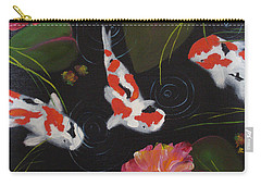 Kippycash Koi Carry-all Pouch by Judith Rhue