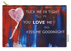 Kiss Me Goodnight Carry-all Pouch by Andrea Anderegg