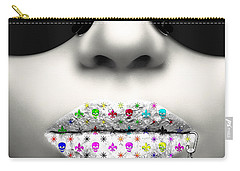 Kiss Me Silver Carry-all Pouch