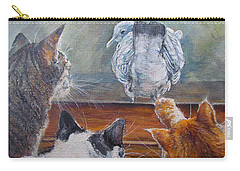 Carry-all Pouch featuring the painting Kiss My Assssssss by Donna Tucker