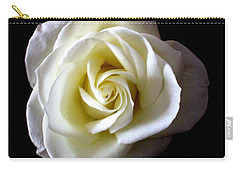 Carry-all Pouch featuring the photograph Kiss Of A Rose by Shana Rowe Jackson