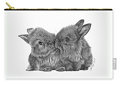 Kissing Bunnies - 035 Carry-all Pouch by Abbey Noelle