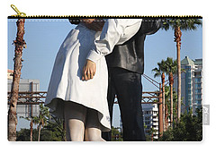 Carry-all Pouch featuring the photograph Kissing Sailor - The Kiss - Sarasota by Christiane Schulze Art And Photography