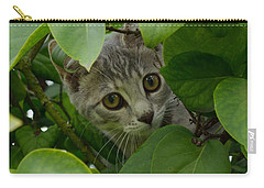 Kitten In The Bushes Carry-all Pouch