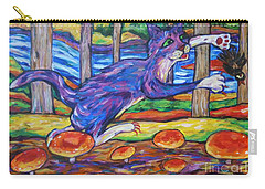 Kitty Dances With Fantail By Toadstool Ledge Carry-all Pouch by Dianne  Connolly